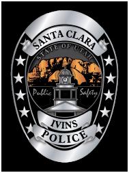 Ivins Santa Clara Police Badge