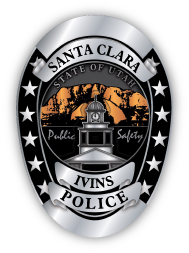 ivins_santa_clara_police_badge