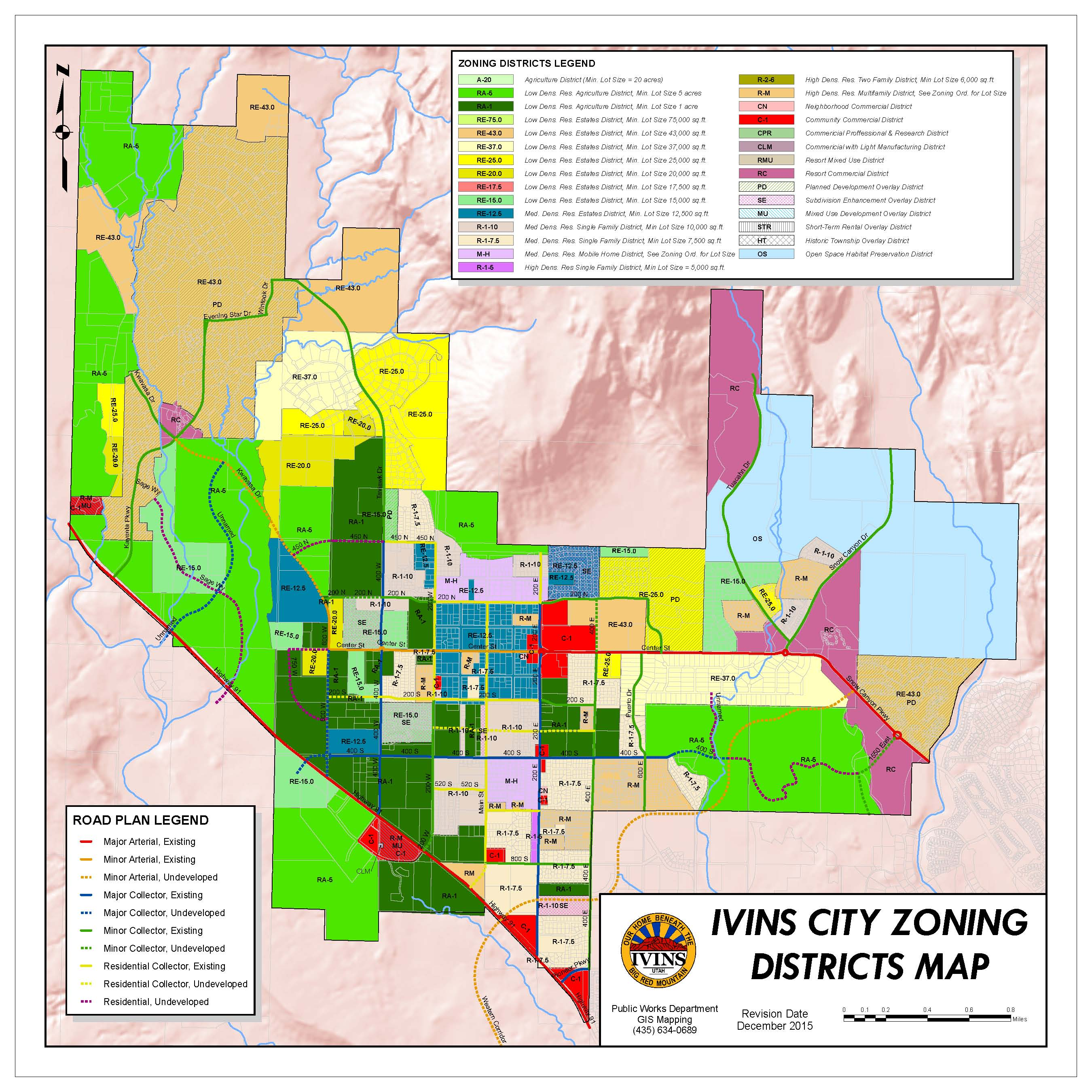 City Zoning Map Zoning Map | Ivins City