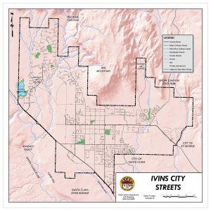 Ivins Street Map